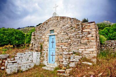 greece,cyclades,naxos : byzantine church