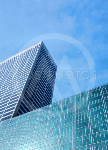 Glass office skyscrapers