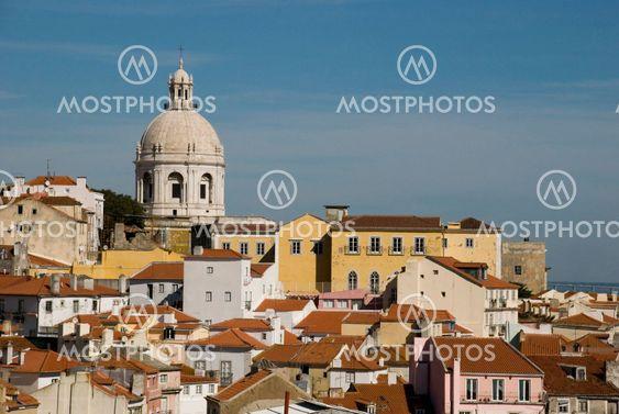 Alfama with pantheon, Lisbon