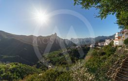 Tejeda village in the mountains of Gran Canaria, Canary...