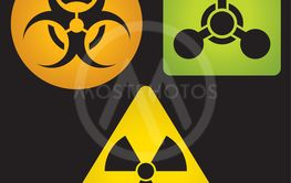 Signs of chemical, biological and radioactive hazard