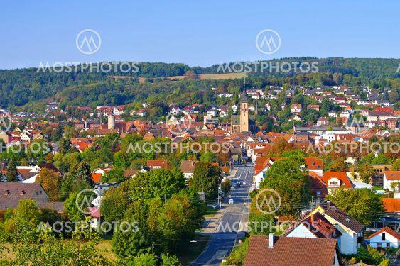 Tauberbischofsheim, Germany, north-east of...