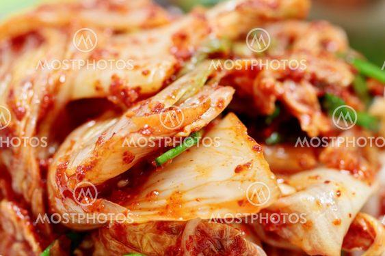 Closeup of kimchi, Korean traditonal food
