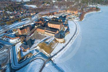 Hameenlinna city (aerial photography). Finland