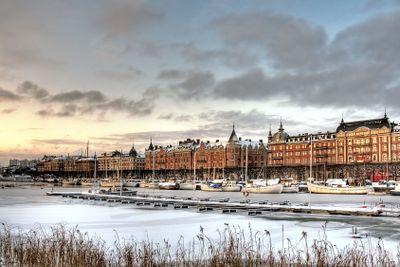 City in winter.