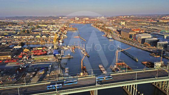 Göteborgs hamn  Götaälvbron nya brobygget