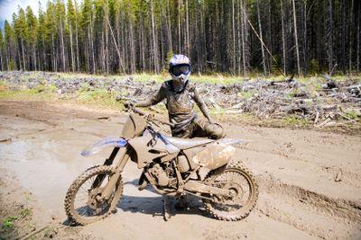 Muddy Motocross Racer