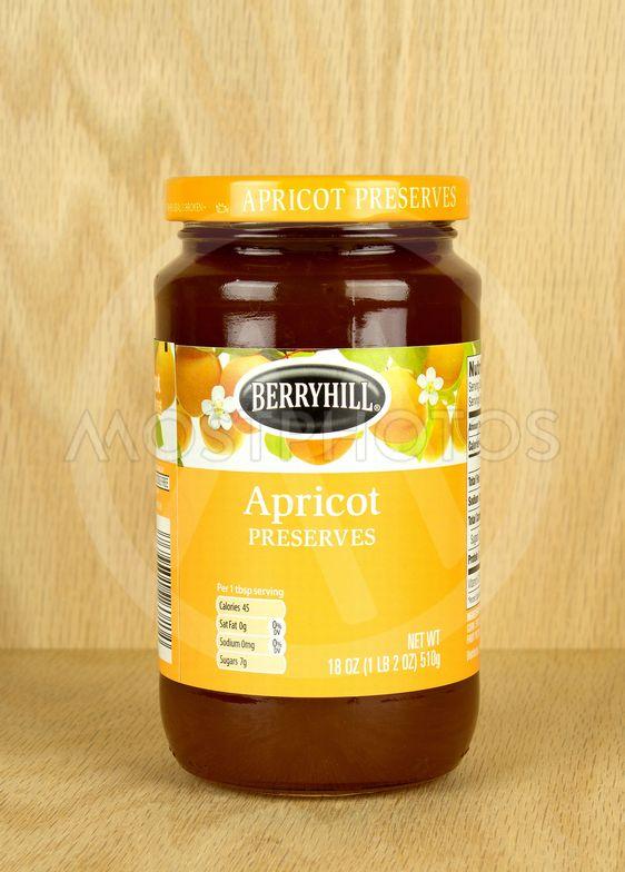 Apricot preserve jar.