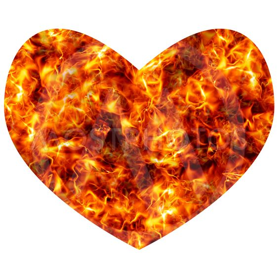 Heart in flames