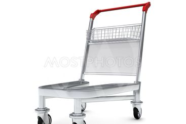 Trolley for luggage at the airport