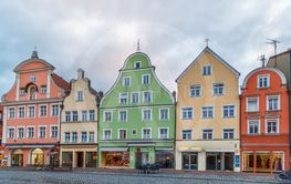 Altstadt street in Landshut, Germany