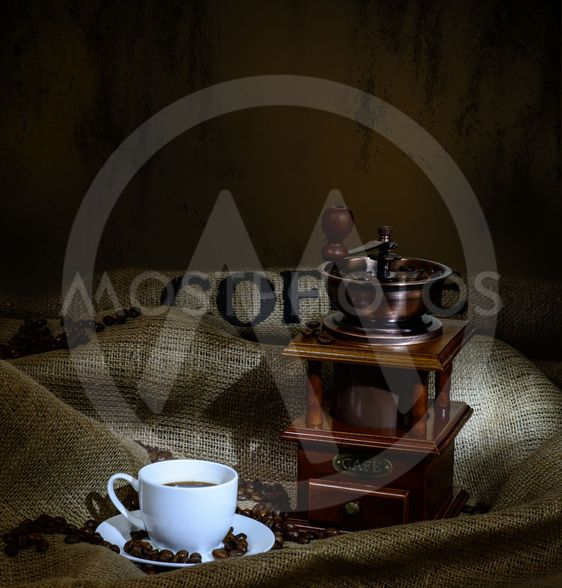 coffee mill and cup