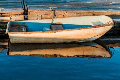 Boat on the oceanic coast