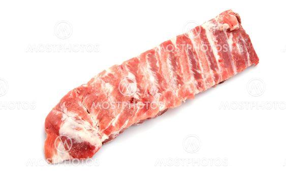 pork rib on white background