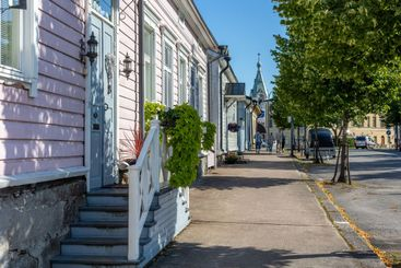 Old Town of Hamina, Finland in Summer.