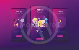 Product testing app interface template.