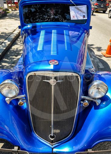 old american car in a show in Saco Maine