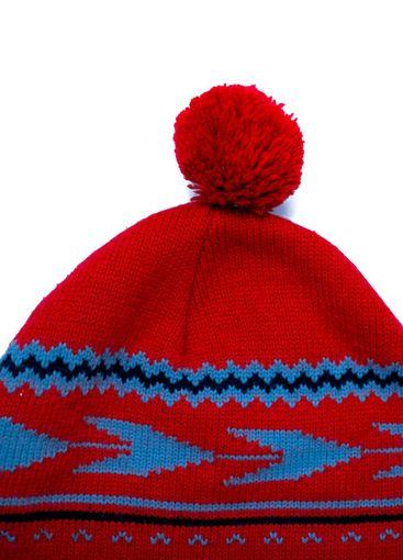 Red woolen winter hat