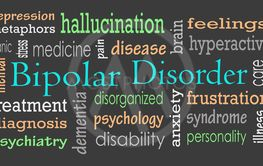 Bipolar disorder word cloud concept