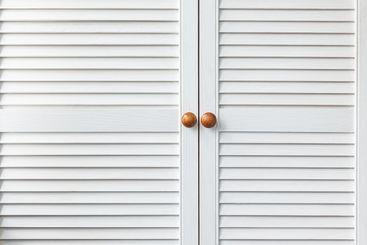 double door white cabinet