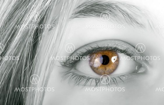 woman yellow eye