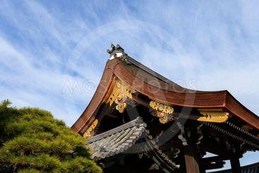 Gishu-mon Gate, Kyoto Imperial Palace, Kyoto, Japan.