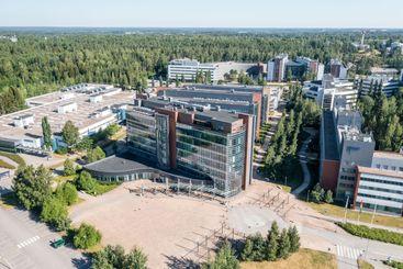 Aerial view of Nokia company headquarter