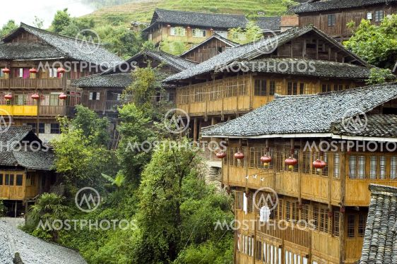 Chinese village near Guilin