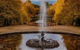 Parklandschaft Ballenstedt Harz im Herbst