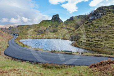 Fairy Glen valley, Isle of Skye, Scotland.