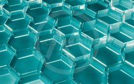 Abstract tech honeycomb background.