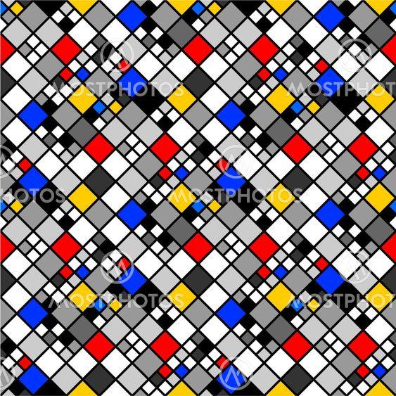 Design seamless colorful mosaic pattern. Abstract diamond...