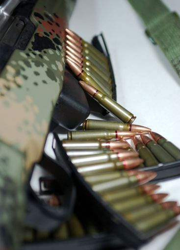 Military Rifle And Ammunition