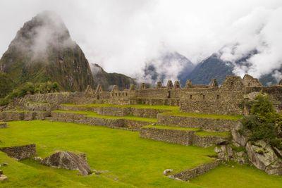 Ruins in Machu Picchu, Peru.
