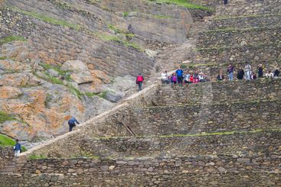 Ollantaytambo, archaeological site in Peru.