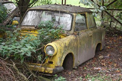 Dumped car wreck