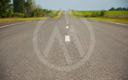 Asphalt road close up photo