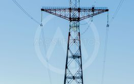 high-voltage tower high-voltage transmission line near...
