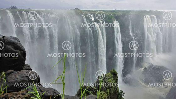 Powerful unique Victoria Falls .