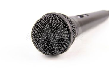 Microphone black on a white background.