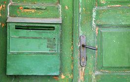 Part of Green Shabby Door