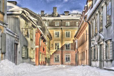 Old street in Stockholm.