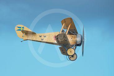Vintage Tummelisa aircraft in the airshow at Orebro airport