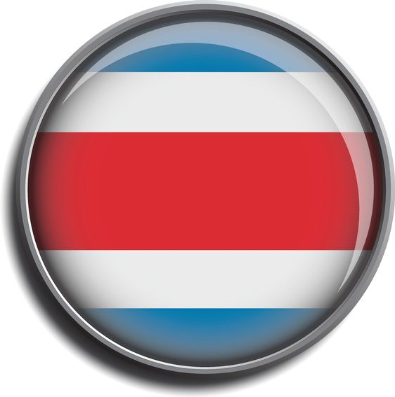 flag icon web button costa rica