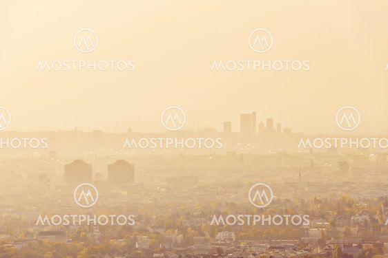 Vienna cityscape during hazy morning light in autumn