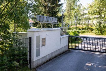 entrance to Innofactor head office in Keilaniemi.
