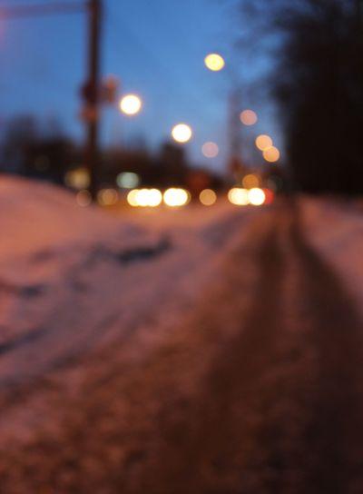 street, dark, evening, no focus