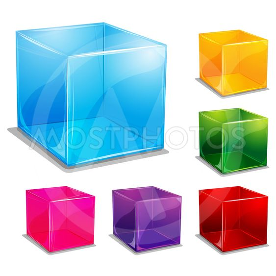 colorful cubic vector background