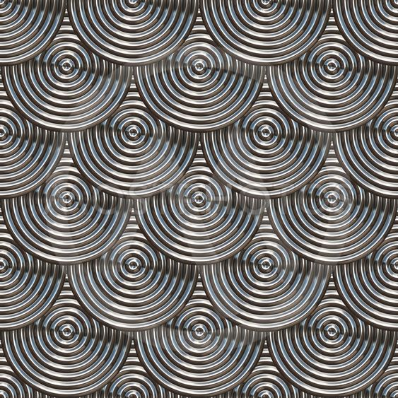 Circles with grooves.Silver.