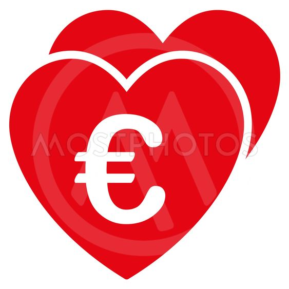 Euro Favorites Hearts Flat Glyph Icon